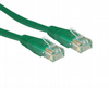 Short 0.2m Ethernet Network Cable - RJ45 Plugs / CAT5e / Green
